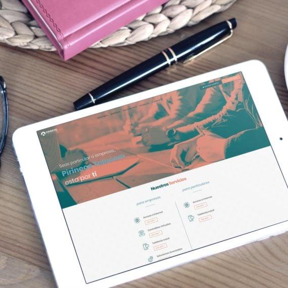 Web Pirineos Telecom Tablet