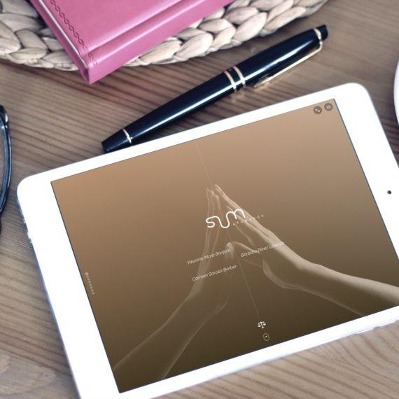 Sum Abogados web version tablet